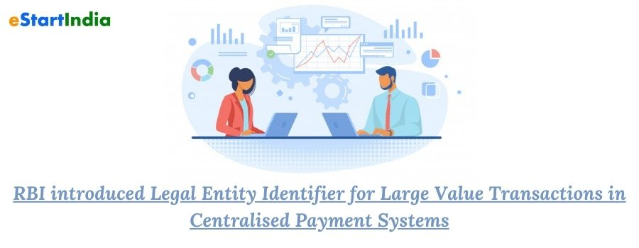 RBI introduced Legal Entity Identifier for Large Value Transactions in Centralised Payment Systems
